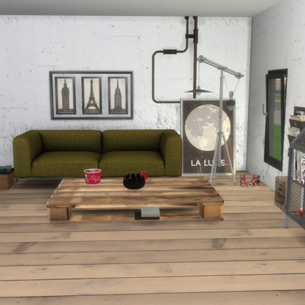 Leo 4 Sims: Sofa and Coffee Table
