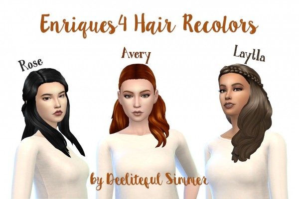 Deelitefulsimmer: Enrique` hairstyles recolors