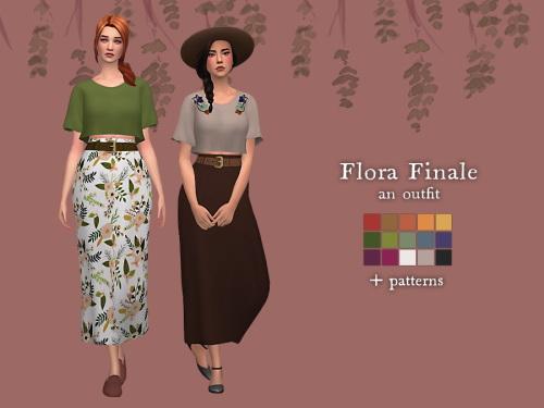 Nolan Sims: Flora final outfit