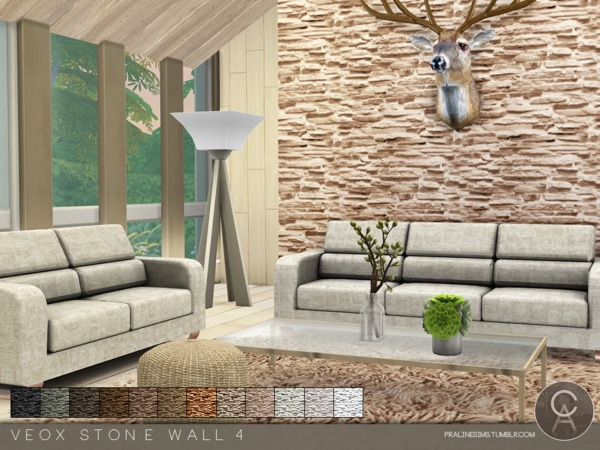 The Sims Resource: VEOX Stone Wall 4 by Pralinesims