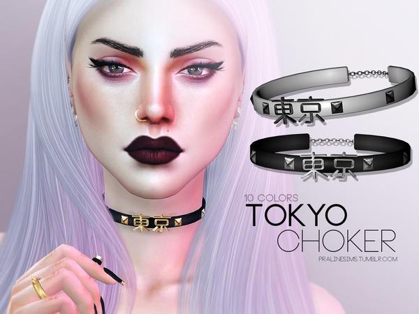 The Sims Resource: Tokyo Choker by Pralinesims