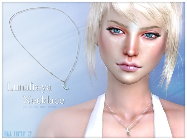The Sims Resource: Lunafreya Necklace by Pralinesims