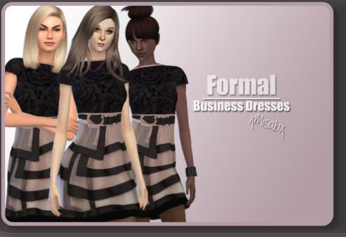 Xmisakix sims: Business Dresses