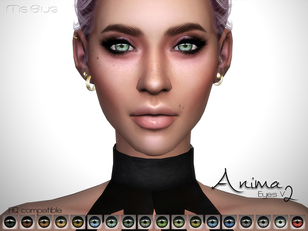 The Sims Resource: Anima Eyes V2 HQ by Ms Blue