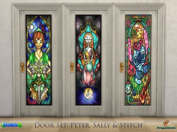 The Sims Resource: Door Set: Peter, Sally and Stitch by DragonQueen