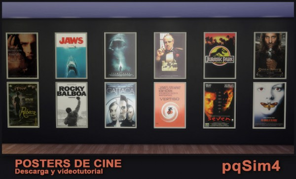PQSims4: Cinema posters