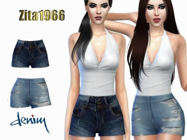 The Sims Resource: Denim Shorts by ZitaRossouw