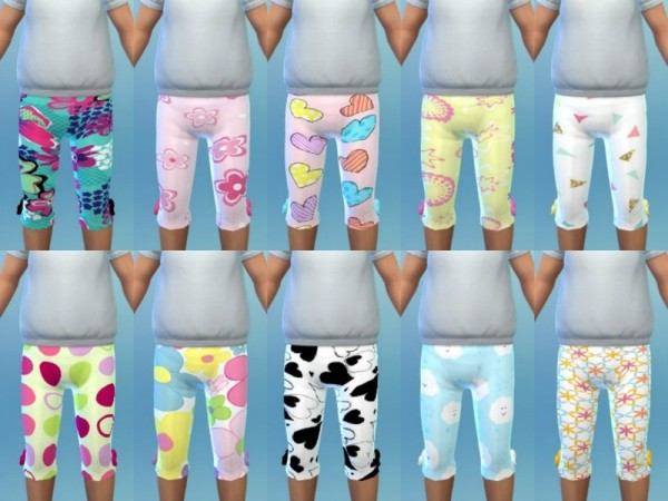 The Sims Resource: Girl Toddler Leggings 1 by Euphoria Creations
