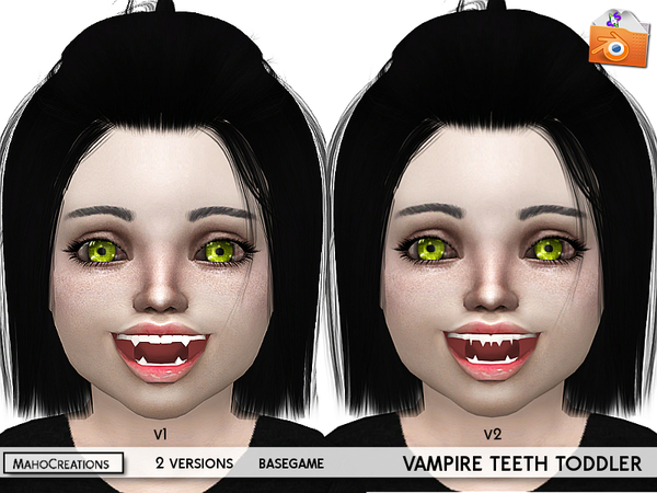 The Sims Resource: Vampire Teeth Toddlers by MahoCreations
