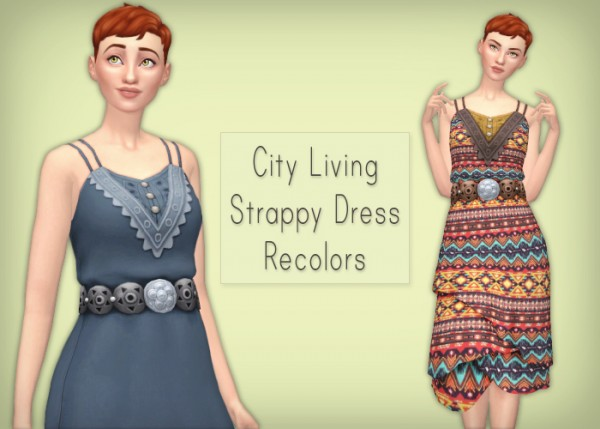 Simsrocuted: City Living Strappy Dress