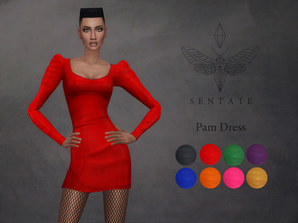 The Sims Resource: Pam dress by Sentate