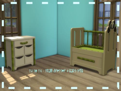 Chillis Sims: Mmall Dresser and Crib