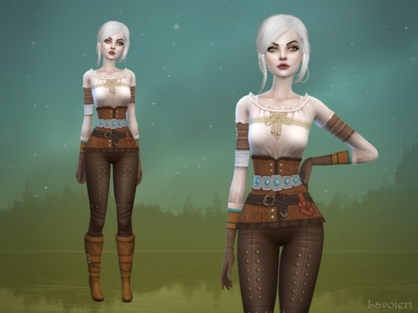 The Sims Resource: Ciri Outfit by Lavoieri