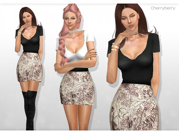 Cherryberrysims: Slow down   Party dress
