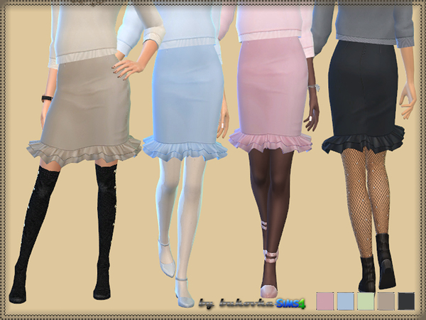 The Sims Resource: Skirt & Frill by bukovka