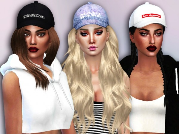 The Sims Resource: City Babe Caps by Simlark