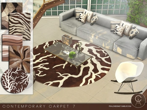 The Sims Resource: Contemporary Carpets 7 by Pralinesims