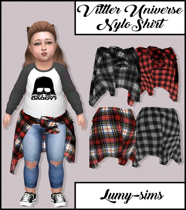 LumySims: Vittler Universe Nylo Shirt for Toddlers