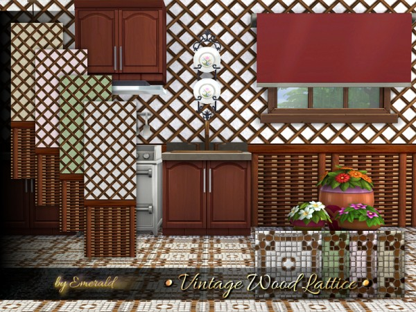 The Sims Resource: Vintage Wood Lattice by emerald
