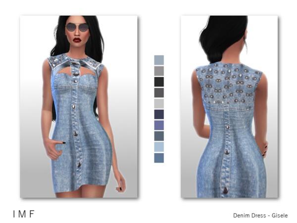 The Sims Resource: Denim Dress   Gisele by IzzieMcFire