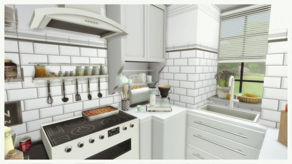 Dinha Gamer: Small Black & White Kitchen with Livingroom