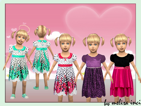 The Sims Resource: Toodler Floral Dress by melisa inci