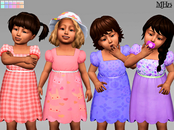 The Sims Resource: Cutie Toddler Dresses (12 Versions) by Margeh 75