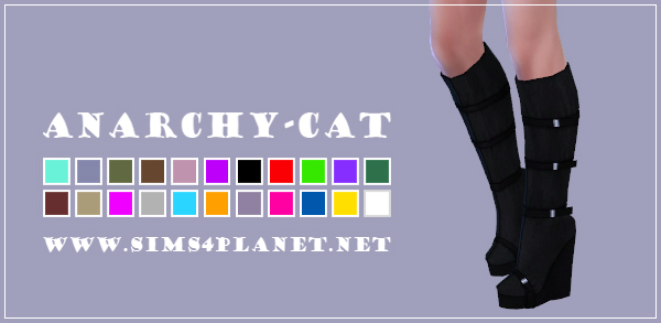 Anarchy Cat: Madlen`s Elumina Boots