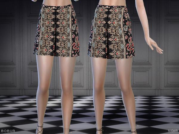The Sims Resource: Bobur noir skirt