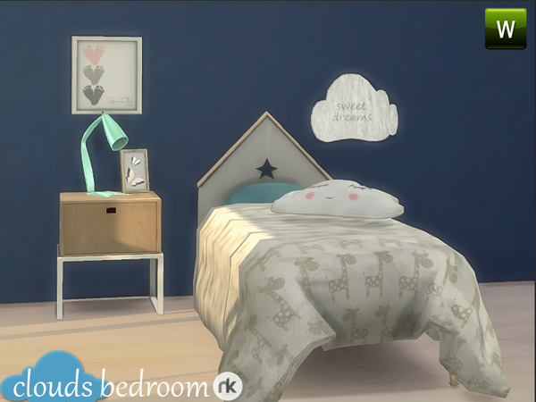 The Sims Resource: Clouds Bedroom by Nikadema