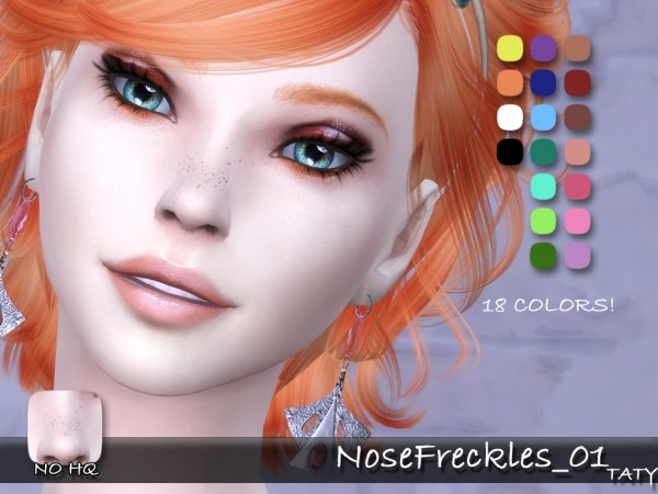 Simsworkshop: Nose Freckles 01 Blush by Taty