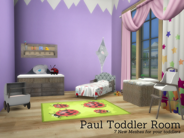 The Sims Resource: Paul Toddler Room by Angela