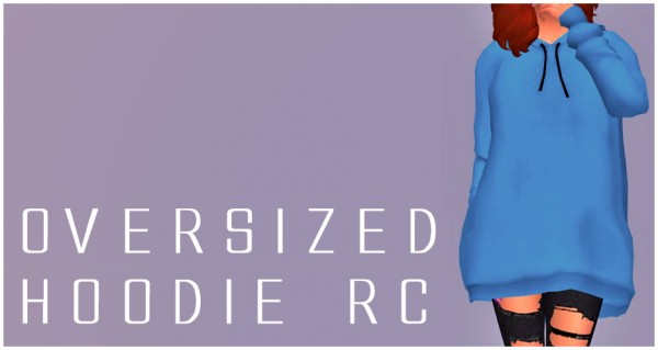 Simsworkshop: Oversized Hoodie RC by Sympxls
