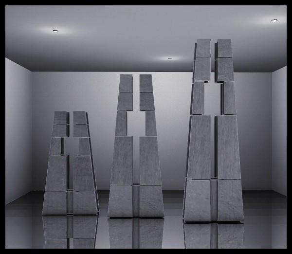 Sims 4 Designs: Apartment 12 Concrete Columns
