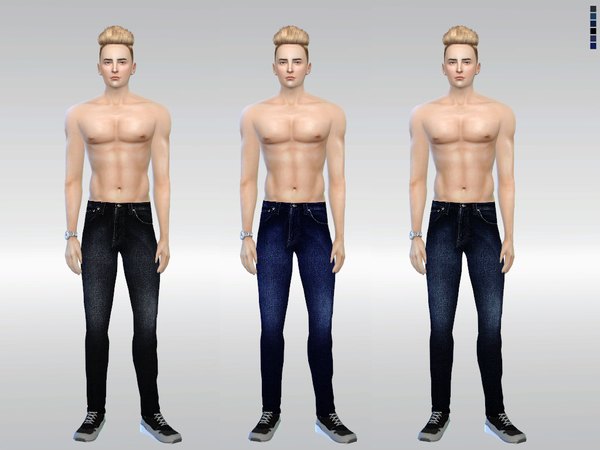 The Sims Resource: N001 Chic Denim Jeans by McLayneSims