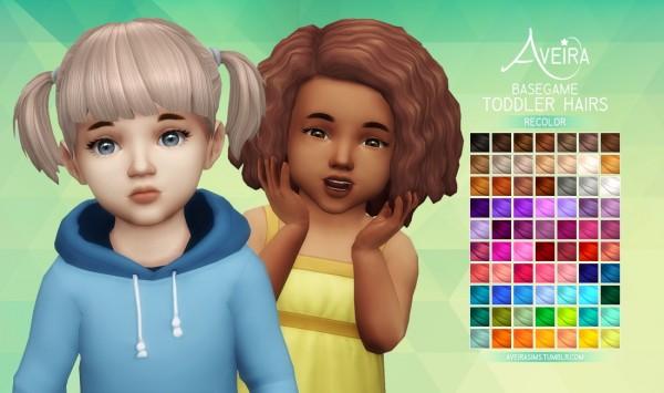 Aveira Sims 4: Basegame Toddler Hairs   Recolor
