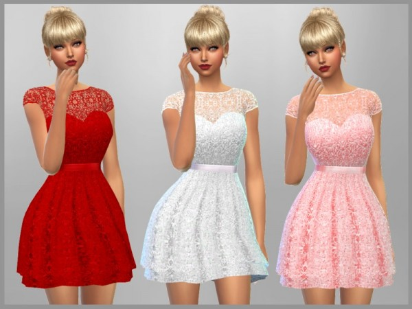 The Sims Resource: Emma Dress by SweetDreamsZzzzz
