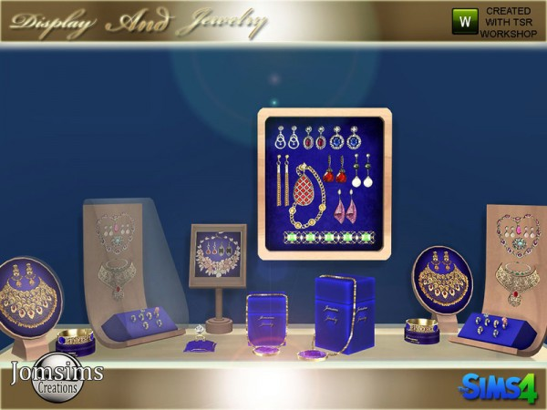 The Sims Resource: Display and jewelry set by jomsims