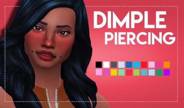 Simsworkshop: Dimple Piercings by Weepingsimmer