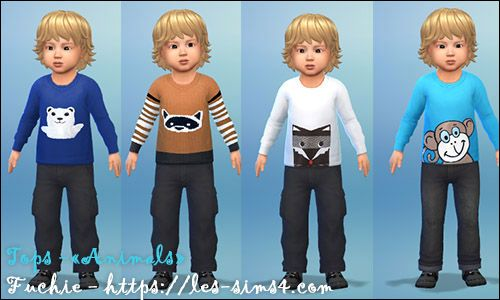 Les Sims 4: 4 tops for toodlers