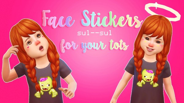 Sulsul Sims: Toddler Face Stickers