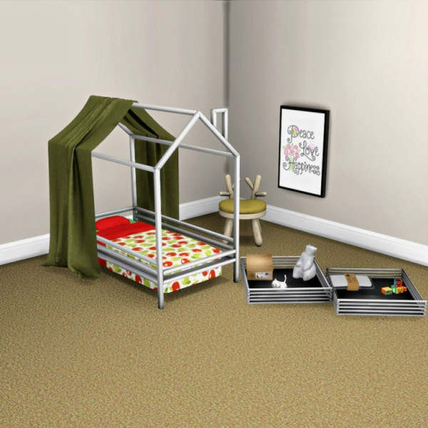 Leo 4 Sims Toddler Bed And Canopy O Sims 4 Downloads