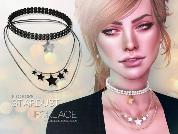 The Sims Resource: Stardust Necklace by Pralinesims