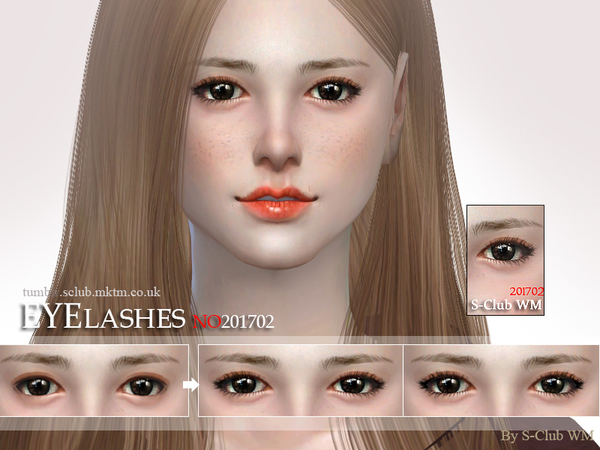 The Sims Resource: Eyelashes 201702 by S Club