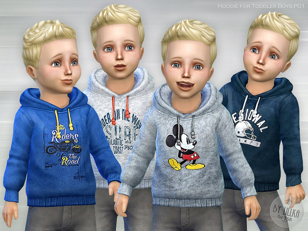 The Sims Resource: Hoodie for Toddler Boys P01 by lillka