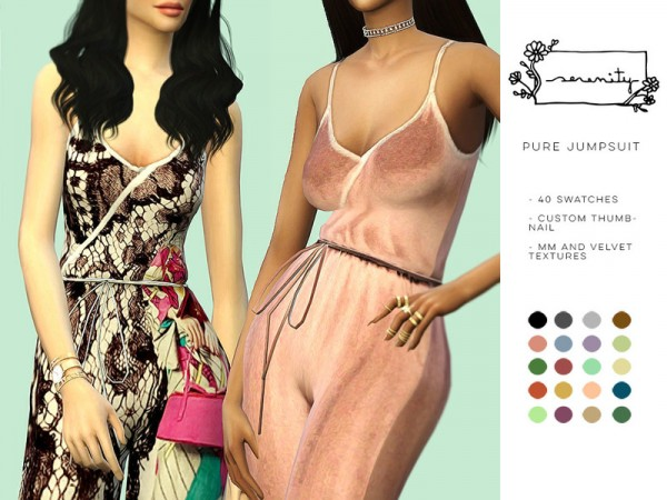 The Sims Resource: Pure Jumpsuit by serenity cc