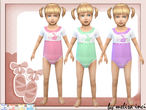 The Sims Resource: Toddler Cute Bodysuit by melisa inci
