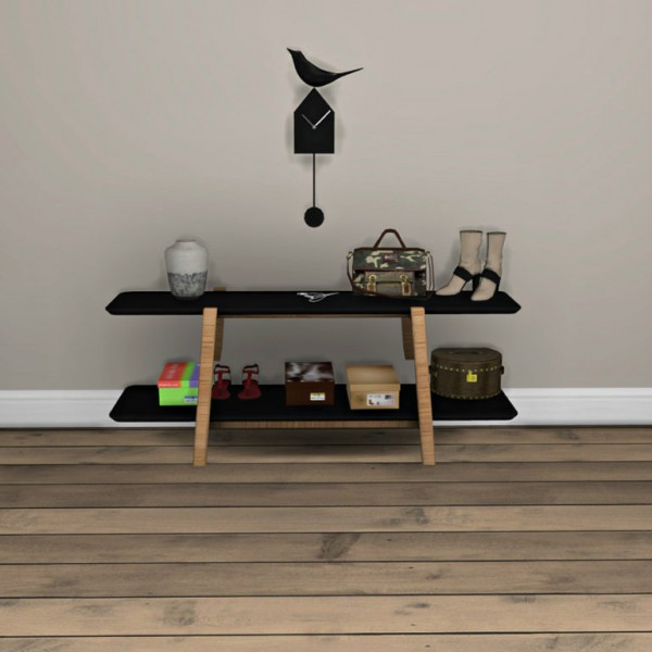 Leo 4 Sims Shoe Rack And Clock Sims 4 Downloads