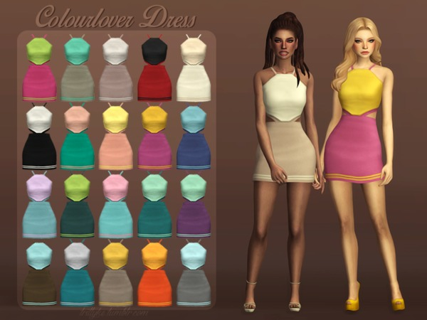 The Sims Resource: Colourlover Dress by Trillyke