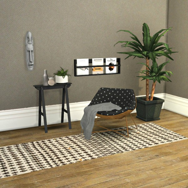 Leo 4 Sims: Cassandre Chair and Plant Table